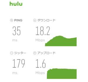 hulu スピードテスト